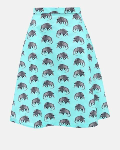 Tyrkysová sukňa annanemone