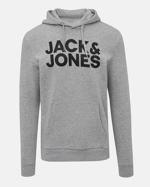 Sivá mikina Jack & Jones