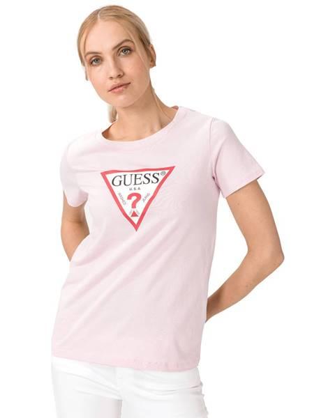 Béžové tričko Guess