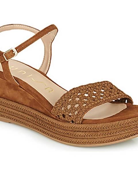 Hnedé sandále Unisa