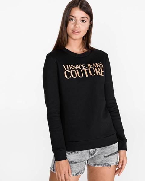 Čierna mikina bez kapucne Versace Jeans Couture