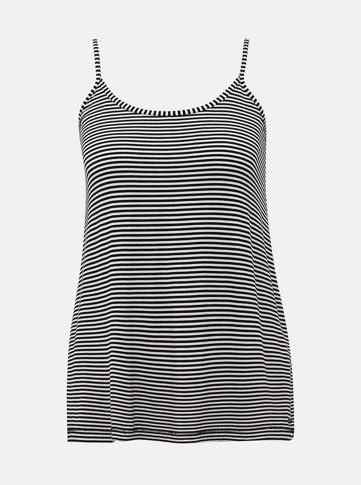 zoot baseline Bielo-čierne dámske pruhované basic tielko ZOOT Baseline Cameron