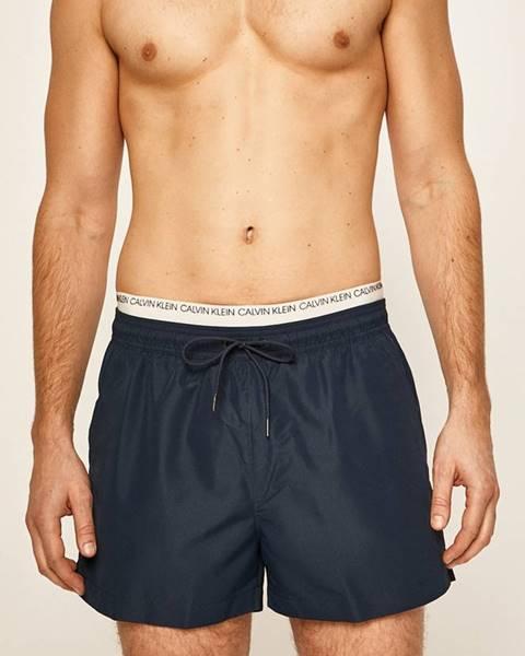 Tmavomodré plavky Calvin Klein Jeans