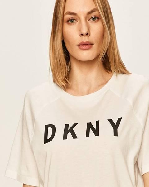 Biele tričko DKNY