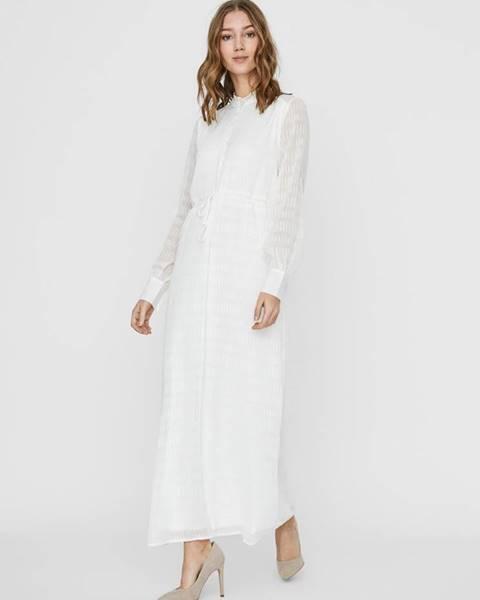 Biele maxišaty Vero Moda