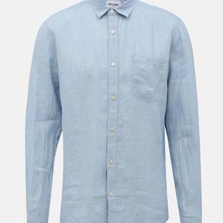 Svetlomodrá ľanová slim fit košeľa ONLY & SONS Luke