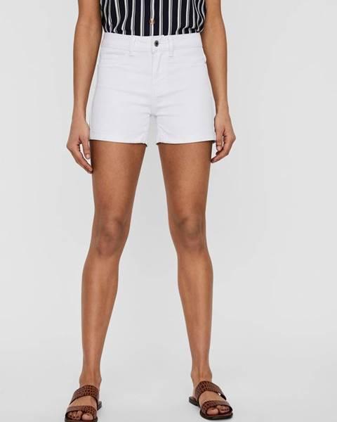 Biele riflové kraťasy Vero Moda