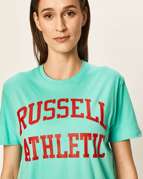 Tyrkysové tričko Russell Athletic
