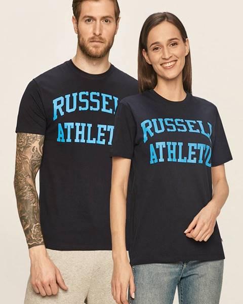 Tmavomodré tričko Russell Athletic