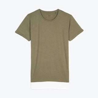 Tričko s kontrastným lemom