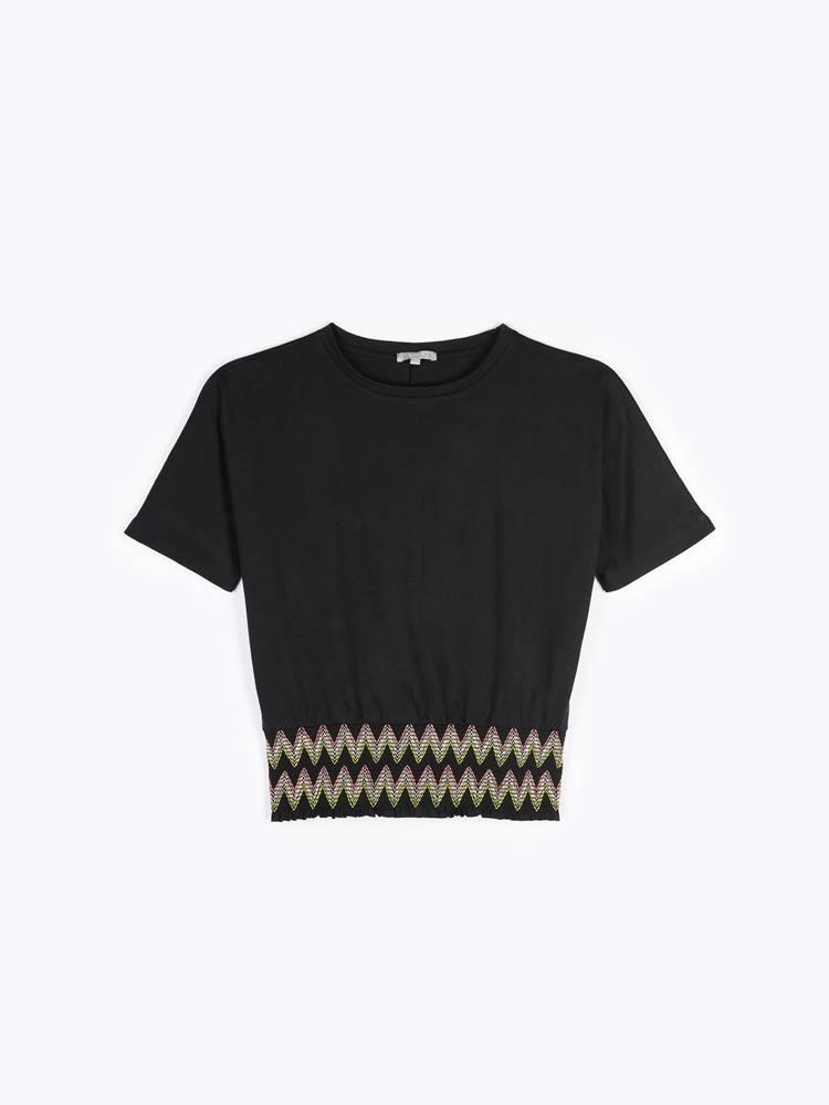 GATE Tričkový top s elastickým lemom