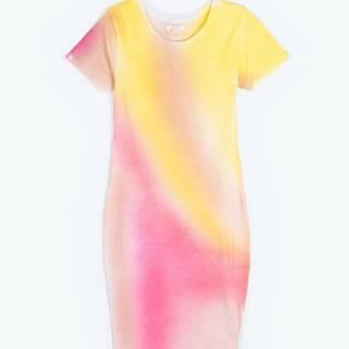 Batikované tričkové šaty