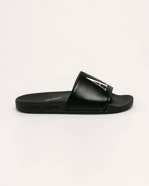 Čierne sandále Armani Exchange