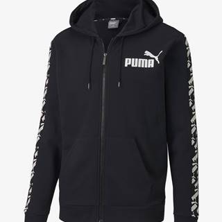 Mikina Puma Amplified Hooded Jacket Tr Čierna
