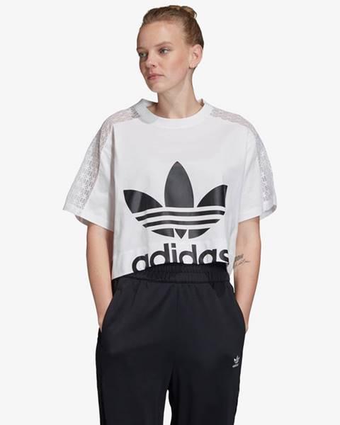 Biele tričko adidas Originals