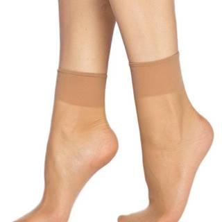 2 PACK silinkových ponožiek  DIE PASST 20 DEN almond