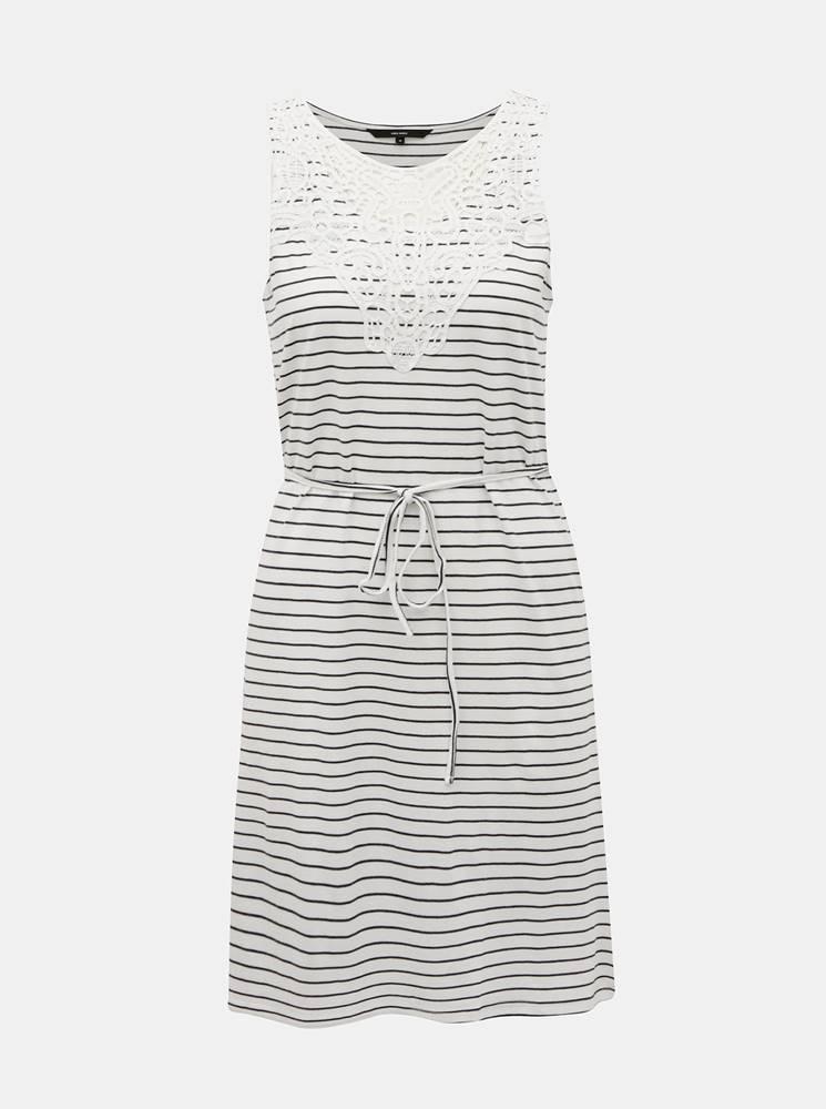 Vero Moda Biele pruhované šaty VERO MODA Hela