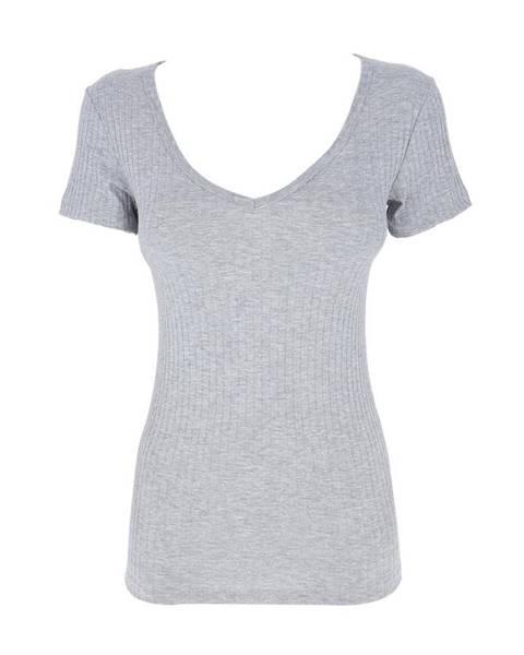 Sivé tričko COTONELLA