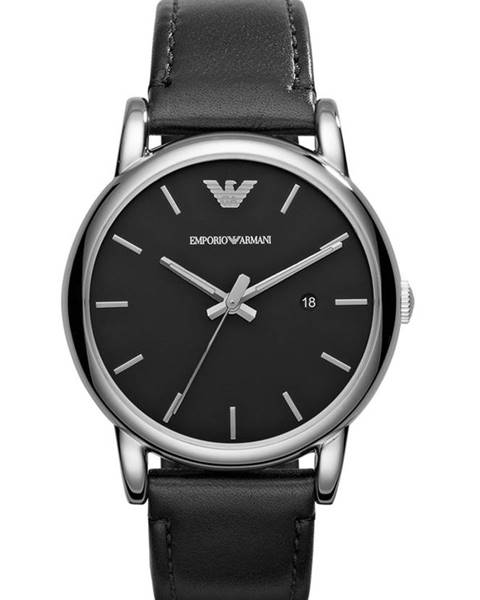 Čierne hodinky Emporio Armani