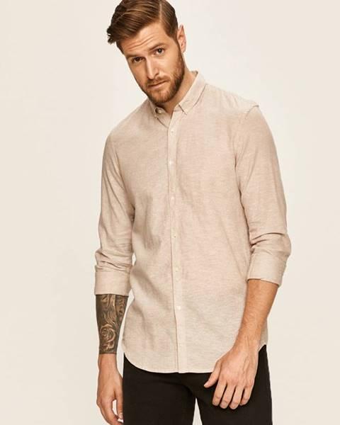 Béžová košeľa Tom Tailor Denim