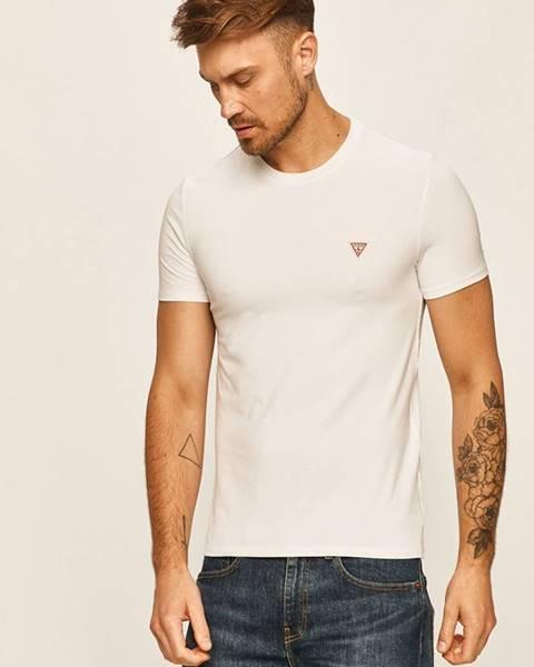 Biele tričko Guess Jeans