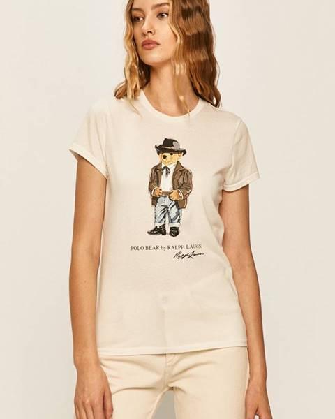 Béžové tričko Polo Ralph Lauren
