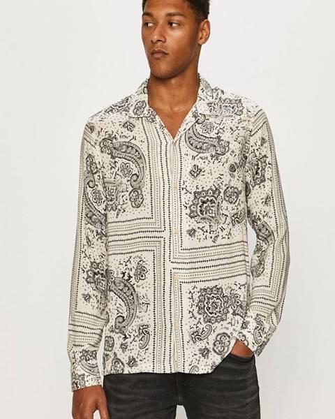 Béžová košeľa AllSaints