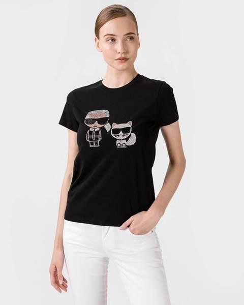 Čierne tričko Karl Lagerfeld