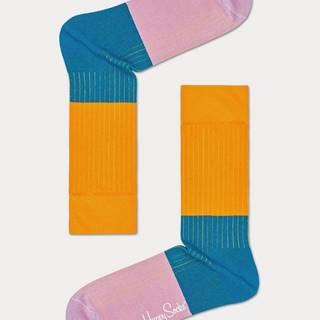 Ponožky Happy Socks Block Rib Sock Farebná