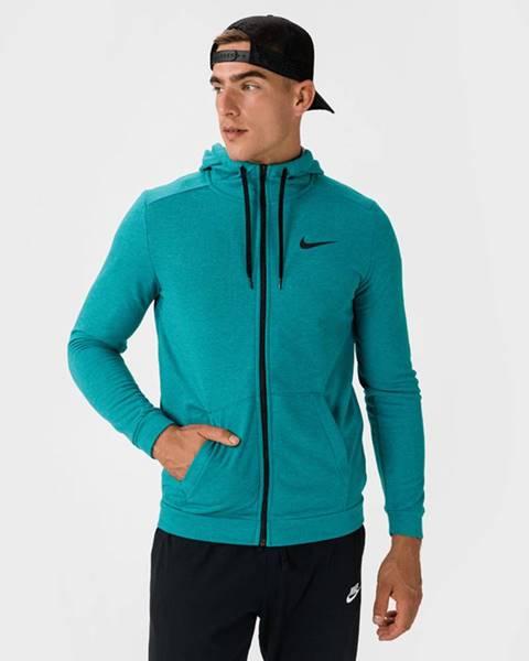 Modrá bunda s kapucňou Nike
