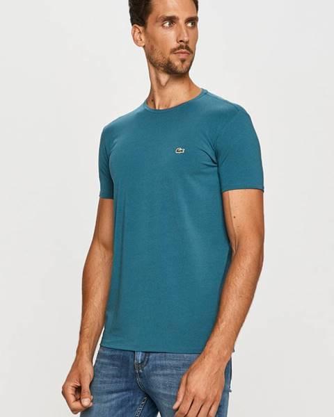 Tyrkysové tričko Lacoste