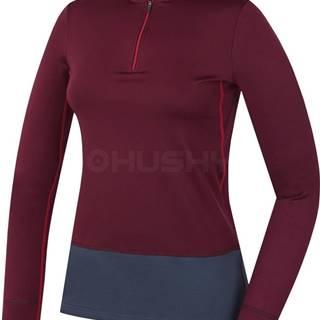 Husky  Active winter long zip figová, M Dámske termo tričko - jeseň, zima