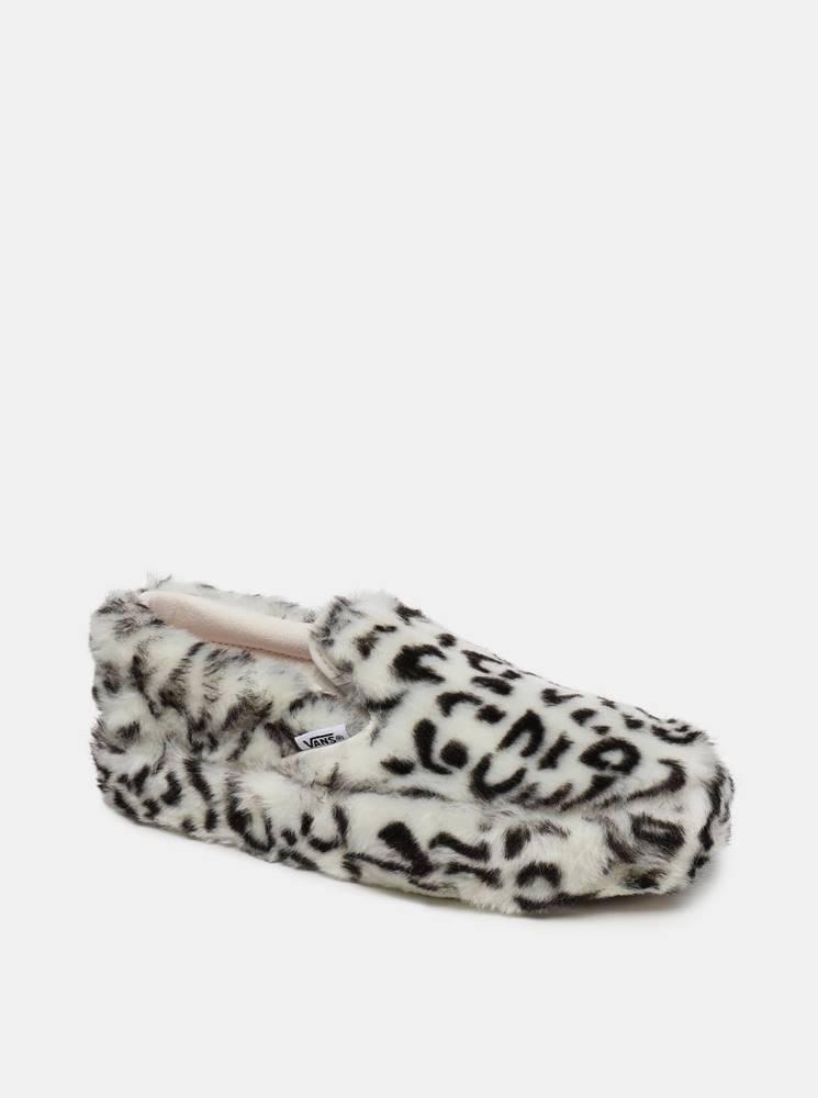 Vans Krémové dámske slip on s leopardím vzorom VANS