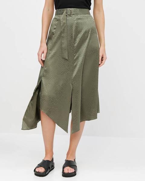 Zelená sukňa Miss Selfridge