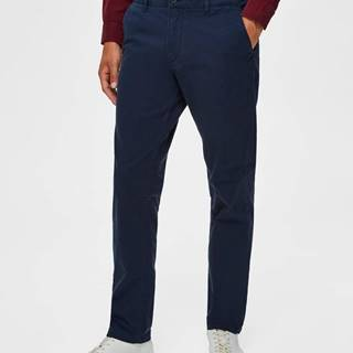 Tmavomodré chino nohavice Selected Homme New Paris